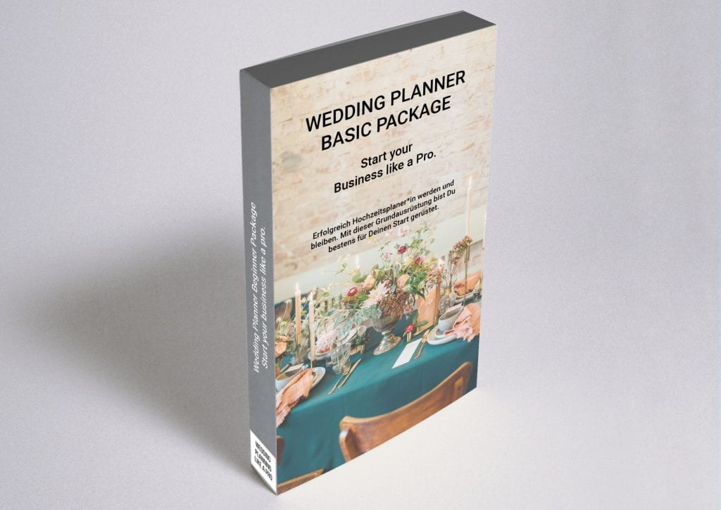 Wedding Planner Basic Package: Start your Business like a Pro